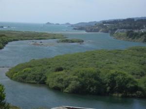 A sandbar closes the ualala River' (Large)