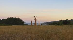 Sakha Serge, a Ceremonial Hitching Post, at dawn by Richard Kuehn