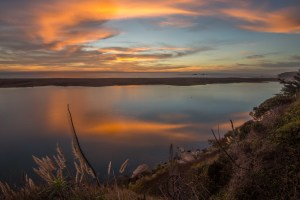 Sunset from the Gualala Bluff Trail by Paul Brewer