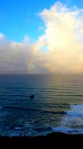 Rainbow over the ocean by Gary Levenson-Palmer