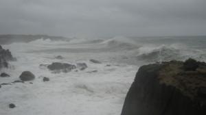 Stormy seas off Stump Beach by John Sperry