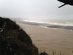 The Gualala River is full to the brim by Chris Howard
