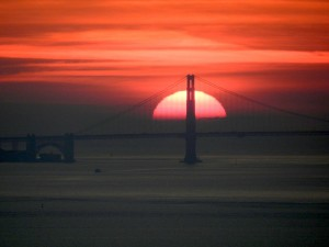 Golden Gate sunset by Jan deVries