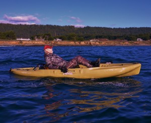 Jack Linkins Kayaking on a pedgal Miracle Drive Hobie Outback Kayak by Rogert Rude