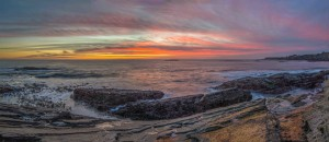 Sunset at low tide 1-22-15 by Paul Brewer