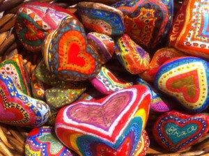 Heart rocks by Jann Littleton