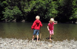Children in the Gualala River by Mary Sue Ittner