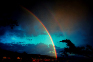 Rainbow at dusk by Peter Cracknell