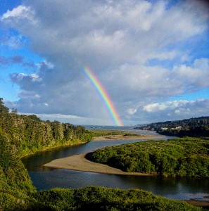 Beautiful Rainbow on Earth Day by Peggy Berryhill