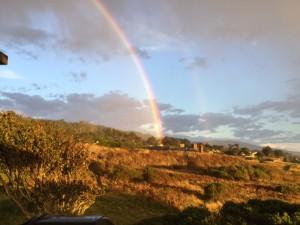 Double rainbow by Jin Sharples