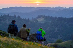 Watching the sunrise at Pole Mountain by Corby Hines