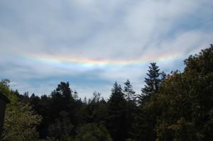 A Circumhorizontal Arc, aka a Fire Rainbow by Connie King