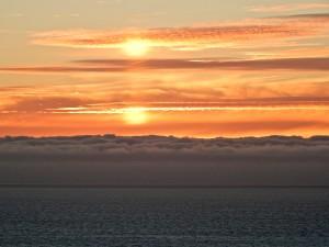 Double sunset by Bettye Winters