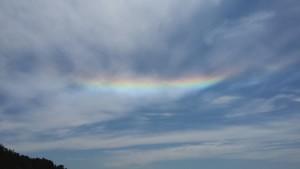 Fire Rainbow at Anchor Bay Beach by Donna Woodbury