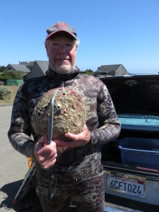 Jack Likins with a 10+ Abalone by Thayer Walker Jr.