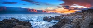 Panorama of Saturday night's dramatic sunset by Paul Kozal