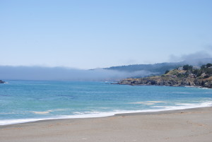 Finger of fog reaches out to Gualala by Jeanne Jackson