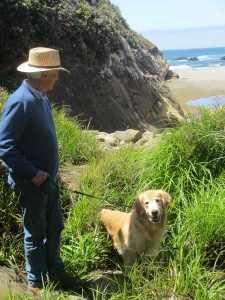 Rick and Sunny at the end of the Salal Trail by C'Anna Bergman-Hill