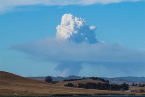Lake County fire cloud by Nan Brichetto