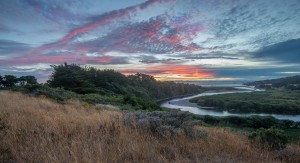 Sunset and the Gualala River 8-10-2015 by Paul Brewer