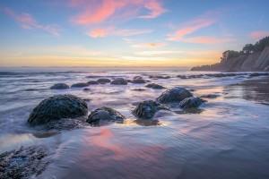 Bowling Ball Beach sunset by Paul Brewer