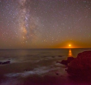 Milky Way and the setting sun by Paul Brewer