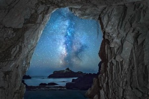 Sea Cave and the Milky Way by Paul Kozal (Large)