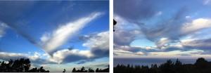 Bird in flight cloud formation by Drew Fagan