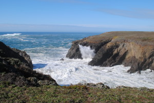 The blowhole at Hearn Gulch by Jeanne Jackson