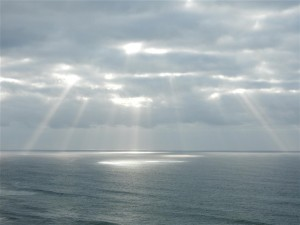 Sunbeams through storm clouds by Bettye Winters (Large)