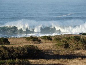 Huge waves off The Sea Ranch by Jon Loveless