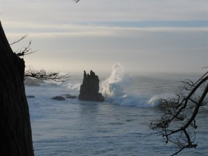 Monster Wave threatens Castle Rock by Richard Hansen (Medium)