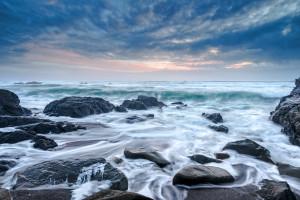 Walk on Beach waves by Paul Kozal