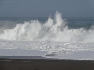 Crashing waves at Gualala Point Regional Park by Rick Deniston