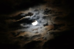 The moon and clouds by Don Spear