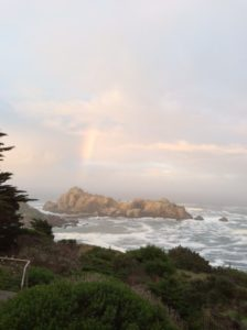 Fish Rocks and a rainbow by Susan Routledge-Jackson