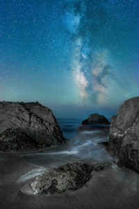 Sea Cove and the Milky Way by Paul Kozal