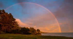 06-17-16 rainbow at Sunset by Paul Brewer