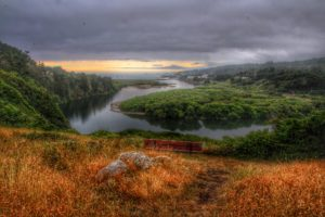The Gualala River lagoon by Mike Nelson
