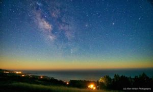 The Milky Way over The Sea Ranch by Allen Vinson