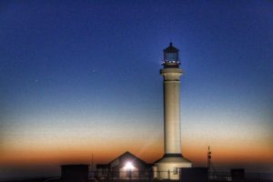 The Point Arena Lighthouse as dusk by Mike Nelson