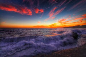 August 7 sunset by Mike Nelson
