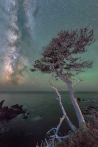 The Milky Way as seen from Highway One by Paul Kozal